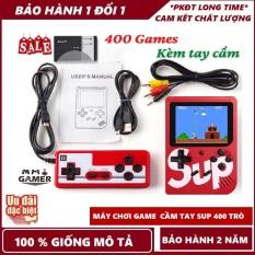 Máy chơi game cầm tay Máy chơi game 4 nút 400 trò chơi – kèm cáp kết nối cho TV – Pin rời dễ tháo lắp