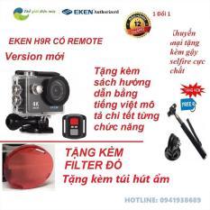[ Version 7.0 nâng cấp lên 20MP] Camera hành trình 4K wifi Eken H9R (có remote) chất lượng 4K 30Fps, chụ ảnh 20Mp – tặng kèm gậy selfire – Bảo hành 12 tháng, đổi trả 1 vs 1