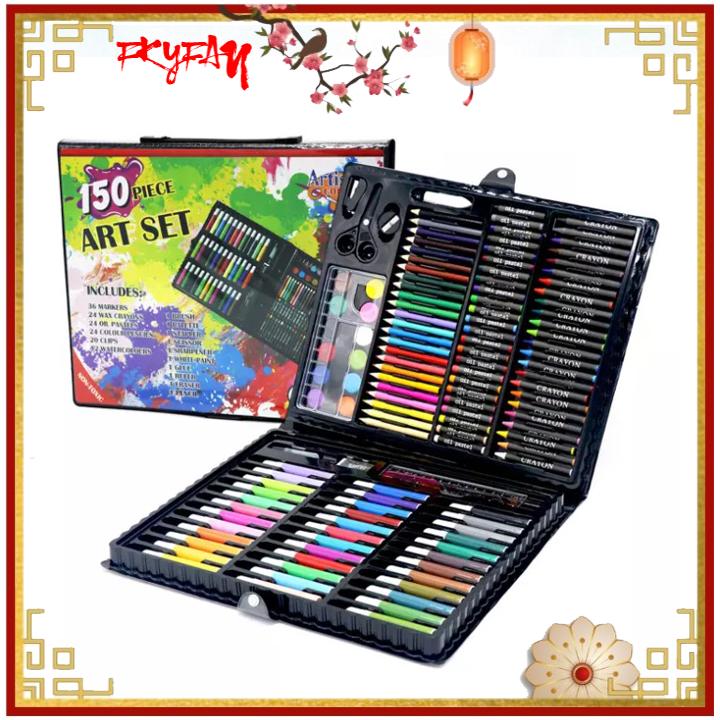 [HOT SALE] Hộp bút màu 150 chi tiết cho bé yêu thỏa sức sáng tạo, thiết kế gọn gàng thông minh tiện lợi, dễ dàng sử dụng