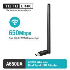 USB Wi-Fi băng tần kép AC650 TOTOLINK A650UA tốc độ 650 Mbps (Đen)