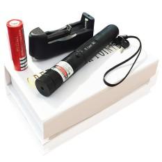 (Đèn Tốt) Đèn laser – bút laze lazer 303 tia xanh / đỏ cực sáng công suất lớn chiếu xa 3km Tặng kèm Pin sạc bao gồm bộ sạc, có điều chỉnh hoa văn hiệu ứng ánh sáng.