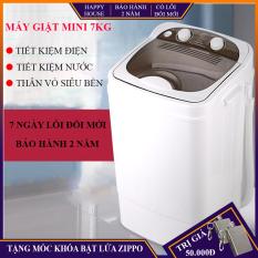 Máy giặt mini bán tự động, máy giặt 7kg tiện lợi, dành cho cá nhân, gia đình nhỏ, bảo hành 2 năm, lỗi đổi trong 7 ngày