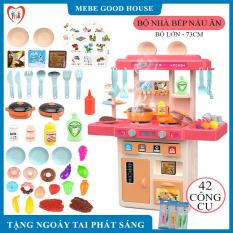 Đồ chơi trẻ em- Bộ đồ chới nhà bếp nấu ăn 25- 42 chi tiết với vòi nước , âm thanh, hiệu ứng khói, lửa như thật . Chất liệu nhựa cao cấp an toàn cho bé