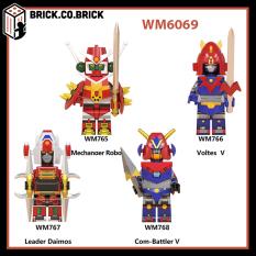 WM6069 – Đồ chơi lắp ráp minifigures và non lego mô hình lắp ráp sáng tạo cho bé Voltes V-Daimos-Super Robot Mechas