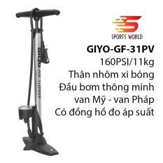 Bơm xe đạp, xe gắn máy 160PSI/11KG GIYO GF-31PV xi bóng — SPORTS WORLD SHOP