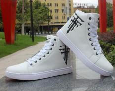 Giày nam cao cổ da PU cao cấp buộc dây đế mềm da mịn êm ái phong cách Hàn Quốc