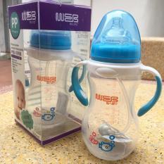 BÌNH SỮA BABY CỔ RỘNG 320ml chống sặc tốt cho bé, dễ vệ sinh akas