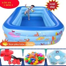 Bể Bơi Phao Cho Bé 1M2,1M3,1M5,1M8,2M1,2M6 Chất Liệu PVC Loại 1 Siêu Dai,Siêu Bền.