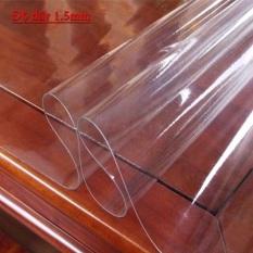 Tấm nhựa PVC trong suốt trải bàn ( 60cm x 120cm)