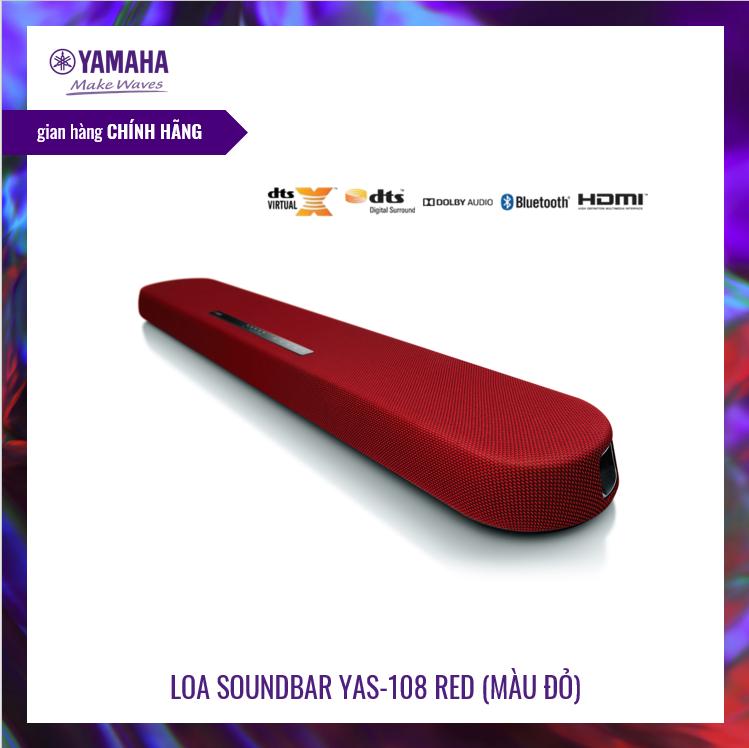 [Trả góp 0%]Loa thanh Soundbar Yamaha YAS-108   Âm thanh vòm 3D với DTS® Virtual:X™  MusicCast   Loa siêu trầm tích hợp   Bluetooth 4.2   HÀNG CHÍNH HÃNG