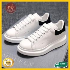 Giày thể thao Sneaker nam nữ MC queen thêu logo Hoa cúc tăng chiều cao 5cm, mang êm chân, thấm hút mồ hôi Chống hôi chân HOT TREND 2020 , Ngocbao Store , giày thể thao nam nữ chất liệu da Cao cấp mang đi học, đi chơi, giày đôi nam nữ