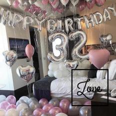 Set bóng trang trí sinh nhật với bóng nhũ+ sao đại+ số tuổi đại
