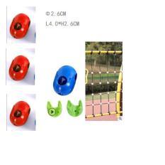 Hạt nhựa đỏ khóa dây thừng làm bảng leo dây