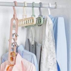Móc treo quần áo đa năng gấp gọn thông minh 9 lỗ tiết kiệm diện tích