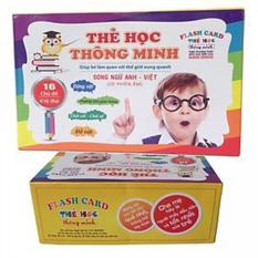 Bộ thẻ học thông minh cho bé 416 thẻ các chủ đề cho bé từ 6 tháng -5 tuổi