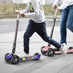 Xe trượt Scooter cao cấp 3 bánh ( có led ) cho trẻ từ 3- 14 tuổi (tải trọng 65kg ), có thể gấp gọn tiện lợi