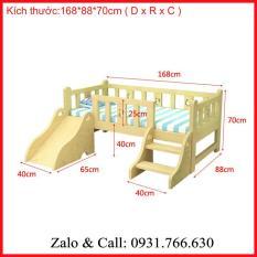 Giường cầu trượt trẻ em – Giường gỗ phòng ngủ 168 x 88 x70cm ( DxRxC )