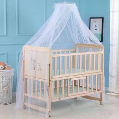 Giường cũi đa năng cho bé, củi gỗ trẻ em – Cũi 2 tầng, gỗ thông, có bánh xe, màn chống muỗi, ghép cạnh giường, 3 mức nâng hạ. KAWAII HOME