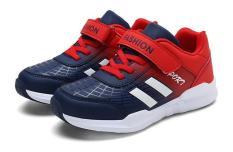 Giày thể thao bé trai bé gái cao cấp siêu nhẹ, giày sneaker cho bé size đại 31-37, giày thể thao phong cách cho bé, giày bé trai (2 màu xanh/đỏ)