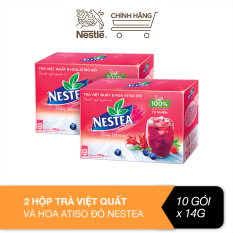 Combo 2 hộp trà việt quất và hoa atiso đỏ Nestea (10 gói x 14g)