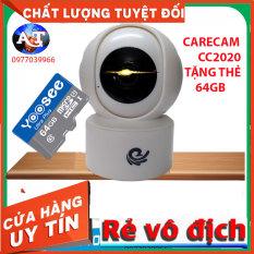 [TẶNG THẺ 64GB 32GB] Camera Wifi- Camera Wifi IP- Camera Quan Sát Trong Nhà CARE CAM 2.0- YH200 CC2020(1080FullHD)