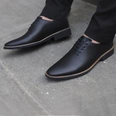 Giày Tây Nam Da Bò Cao Cấp – Giày Công Sở Nam Lịch Lãm CHUNK SHOP ( Bảo Hành 12 Tháng )