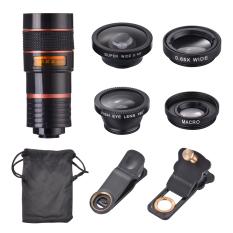 OneTwoFit Ống kính điện thoại, ống kính mắt cá 8 lần, góc rộng 0,4, macro góc rộng 0,65