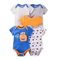 Bộ áo liền quần cho bé sơ sinh body chip tay ngắn 100% cotton