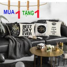 (MẪU 3) Combo 2 Vỏ Gối Tựa Lưng, Gối sofa, Gối ngủ Gia đình và Công sở (không kèm ruột gối)