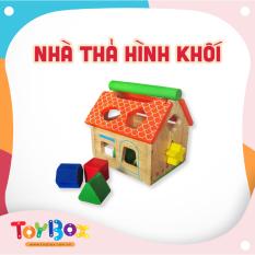 Đồ chơi trẻ em nhà thả 12 khối nhiều màu sắc bằng gỗ ToyBox
