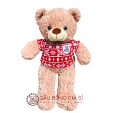 Gấu teddy áo lông hạt bắp – 40cm