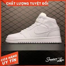 (FREESHIP+HỘP+QUÀ) Giày Thể Thao AIR JORDAN 1 Retro High Full White Full Trắng Cực Phong Cách