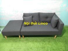 Pk – Bộ ghế sofa băng nằm đa năng xám đen 1m95, bộ ghế sofa phòng khách, salon, sopha, sa lông, sô pha