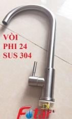 [NƯỚC MẠNH ỐNG TO] Vòi Rửa Chén Bát Lạnh Inox 304 quay 360 độ dùng cho 2 hộc chậu N5001 Fotar VÒI PHI 24