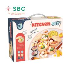 Hàng đẹp có hộp có pizza – Hộp đồ chơi nấu ăn 84 chi tiết các món ăn Á Âu cho bé chơi