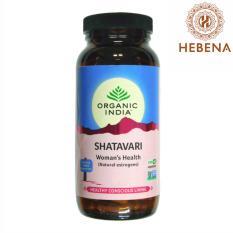 Viên uống tăng sức khỏe sinh sản Organic India Shatavari 250 viên- hebenastore