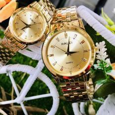 (Tặng kèm hộp và pin) Đồng hồ thời trang nam nữ Halei Mặt Gạch S58