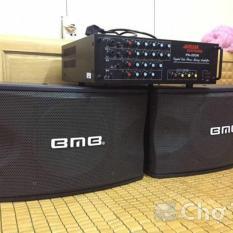 dàn karaoke dàn nghe nhạc loa bmb 450 bass 25 âm ly JARGUAR PA 203N