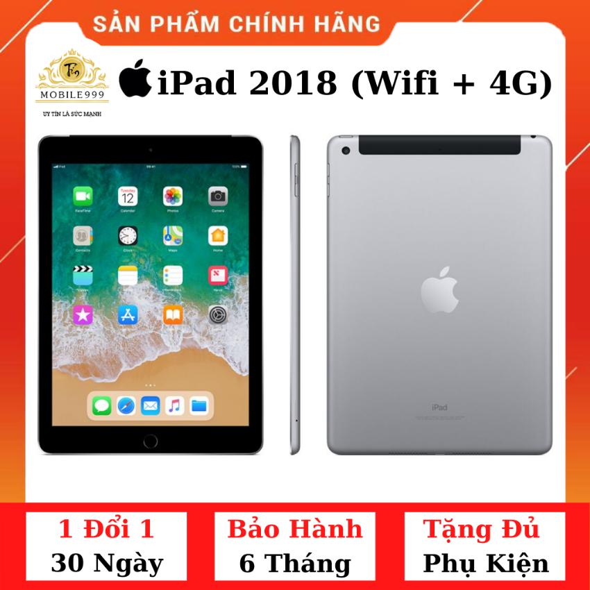 iPad 2018 Gen 6 (Wifi + 4G) 32GB Chính Hãng – Zin Đẹp – Màn Retina sắc nét – Tặng phụ kiện + Bao da – 1 đổi 1 30 ngày – BH 6 tháng – MOBILE999