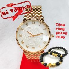[KHUYẾN MẠI KHỦNG] Tặng vòng 150.000đ khi mua Đồng hồ nam mặt rồng vàng trắng cao cấp