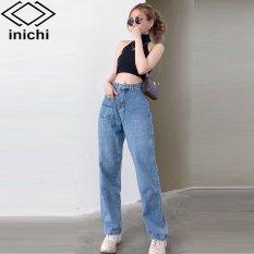 Quần Jean nữ ống rộng SIMPLE JEAN Q872 lưng ôm chất đẹp – INICHI STORE shop chuyên quần jean nữ