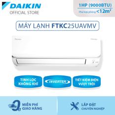 [Trả góp 0%]Máy Lạnh Daikin Inverter FTKC25UAVMV – 1HP (9000BTU) Tiết kiệm điện vượt trội – Luồng gió Coanda – Tinh lọc không khí – Khử ẩm 25% – Độ bền cao – Chống ẩm mốc – Chống ăn mòn – Làm lạnh nhanh – Hàng chính hãng