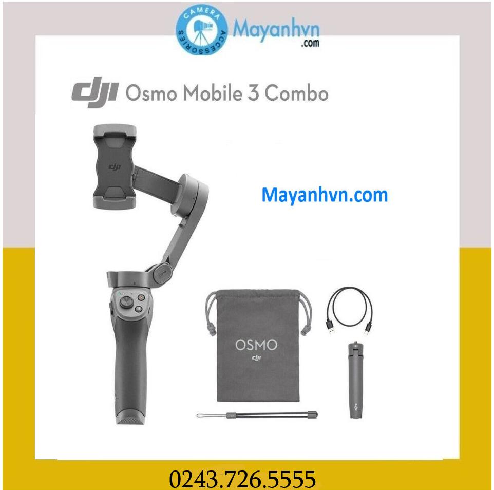 DJI OSMO Mobile 3 Combo-Tay Cầm Chống Rung Cho Điện Thoại ( Bảo hành 12 tháng)
