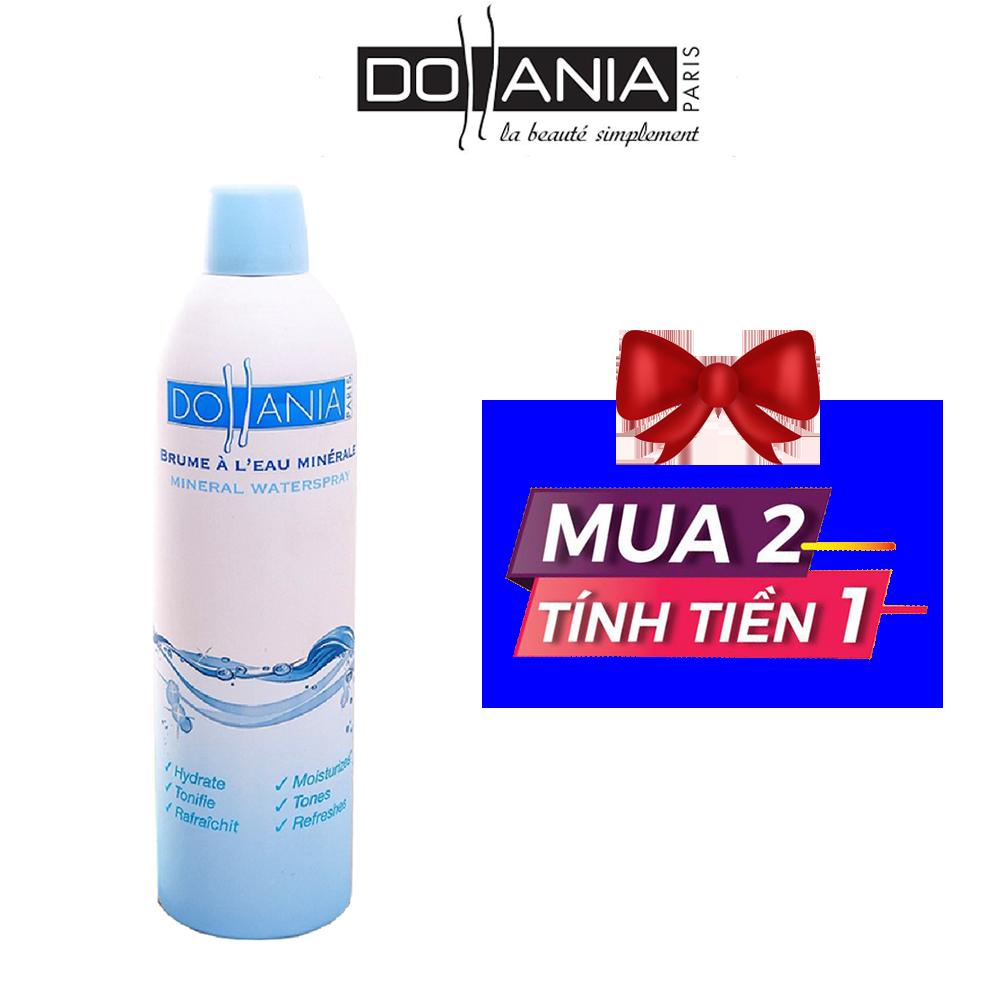 Xịt khoáng Dollania giúp dưỡng ẩm cấp nước và làm dịu làn da Brumisateur Eau Minerale 400ml – Date 11/2021