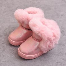 Cô Gái Bốt Mùa Thu Đông Bốt Ngắn Kim Sa Công Chúa Trẻ Em Boot Đi Tuyết 2018 Mẫu Mới Bông Trẻ Em Giày Kiểu Hàn Quốc Cộng Với