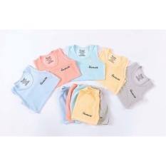 Bộ ba lỗ cotton tăm tre hãng Avaslew cho bé sơ sinh 3-13kg co giãn 4 chiều thấm hút mồ hôi tốt- bo73