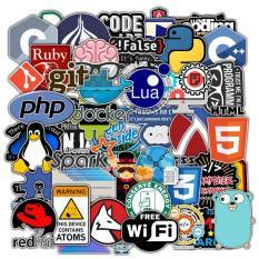 Sticker Developer Bộ 50 Designer Hình Dán Lập Trình Viên – Sticker HTML PHP CSS JS Javascript C++ Python – Chống Thấm Nước