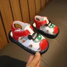 Giày tập đi dành cho cả bé trai và bé gái – In hình ngộ nghĩnh – Quai mềm, đế chống trơn trượt