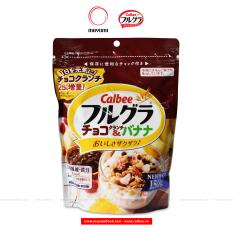 Date 01/2022 Ngũ cốc trái cây Frugra Calbee Nhật Bản 150g Chocolate