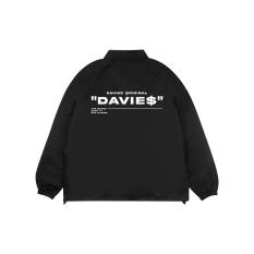Áo khoác dù nam nữ form rộng màu đen DZ Davies – Áo khoác basic Black Under Jacket Mark 2.